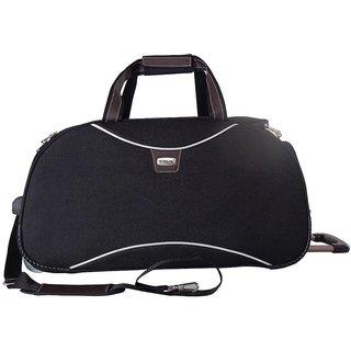 Timus Black Polyester Unisex Duffle Bag