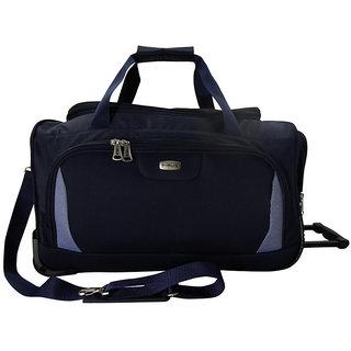Timus Blue Polyester Unisex Duffle Bag