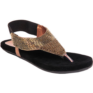 Do Bhai Womens Casual Sandal100100-Golden
