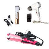 Super COMBO Of 2 In 1 Hair Curler & Hair Straightner + Nova Hair Dryer And Nova