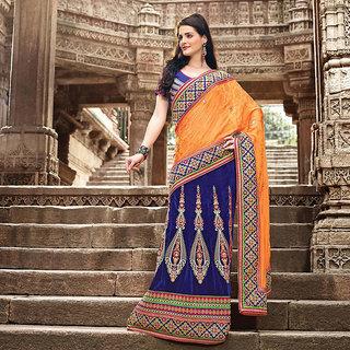 Blue Embroidered Saree (Design 1)