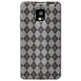 Amzer Luxe Argyle High Gloss Tpu Soft Gel Skin Case For Lg Optimus 2x P990 Clear