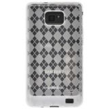 Amzer Luxe Argyle High Gloss Tpu Soft Gel Skin Case For Samsung Galaxy S Ii Gt I9100 Clear