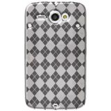 Amzer Luxe Argyle High Gloss Tpu Soft Gel Skin Case For Htc Chacha Clear
