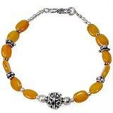 Versatile Brass Yellow Bead Designer Bracelet 107 205016