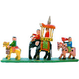 Royal Maharaja Procession Wood Handicraft Item 204