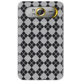 Amzer Luxe Argyle High Gloss Tpu Soft Gel Skin Case For Htc Hd7 Clear