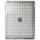 Amzer Luxe Argyle High Gloss Tpu Soft Gel Skin Case For Apple Ipad 2 Clear