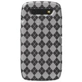 Amzer Luxe Argyle High Gloss Tpu Soft Gel Skin Case For Blackberry Torch 9850 9860 Clear