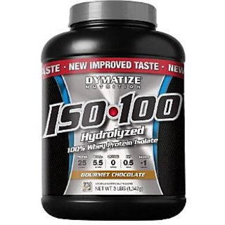 Dymatize Nutrition Iso100 Protein - 3 Lbs (Gourmet Chocolate)