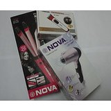 COMBO Of Nova  2in1 Hair Curler & Hair Straightener+Nova Hair Dryer+Nova Trimmer