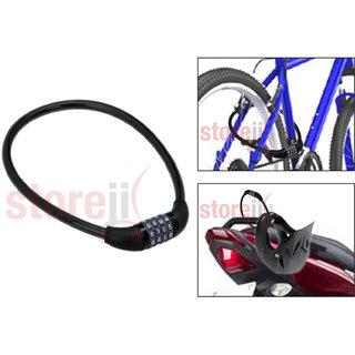 4 Digits Combination Multipurpose Number Lock for Bikes / Helmets / Luggage Black (Set of 1)