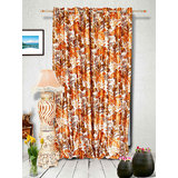 Muskaan Eyelet Jmt Eyelet Curtains - Orange (MTCD 0191)