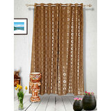 Muskaan Eyelet Karma Eyelet Curtains - Orange (MTCD 0216)