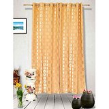 Muskaan Eyelet Karma Eyelet Curtains - Orange (MTCD 0219)