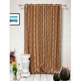 Muskaan Eyelet Swaraj Eyelet Curtains - Beige (MTCW 0074)
