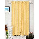 Muskaan Eyelet Super Eyelet Curtains - Yellow (MTCW 0117)