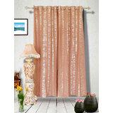 Muskaan Eyelet Criss Eyelet Curtains - Pink (MTCW 0208)