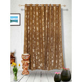 Muskaan Eyelet Karma Eyelet Curtains - Brown (MTCW 0214)