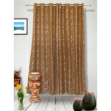 Muskaan Eyelet Karma Eyelet Curtains - Brown (MTCW 0215)