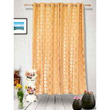 Muskaan Eyelet Karma Eyelet Curtains - Orange (MTCW 0219)