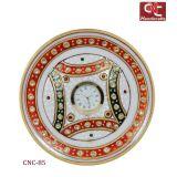 Stone Embellished Round Table Clock