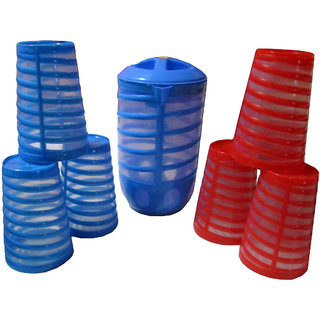 Set of 6 Spiral Glasses with Spiral Jug (1.5 ltr)