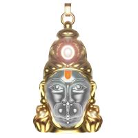 Sovam International Shree Hanuman Chalisa Yantra Locket With Gold Plated Chain