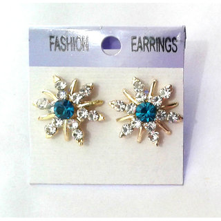 Fancy Blue Earrings - 10032