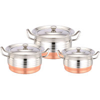 Klassic Vimal 6Pcs Dts Beauty Copper Bottom Dish Set