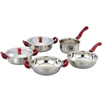Klassic Vimal 7Pcs Induction Set With Cherry Handle