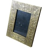 Theshopy Indian Wooden Hand Made Brass Ftd Photo Frame Option-2