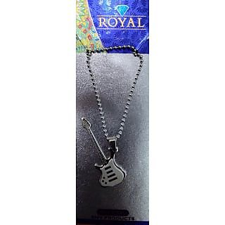 Classic  Chain With Classic, Fancy   Guitar Shape  Locket 09