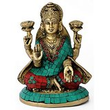 Redbag Goddess Of Wealth Mahalaxmi Brass Statue 4748