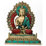 Redbag Buddhist Deity Lord Buddha Decorative - Brass Statue 4760