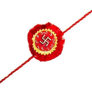 Red Swastic Designer Rakhi ACC6016