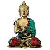 Redbag LOrd Medicine Gautam Budhha Handicraft - Brass Statue 4764