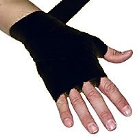 Lew Pair Of Hand Wraps For Hand & Wrist Protection (Black)