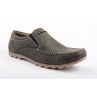 Chamois Olive Loafers