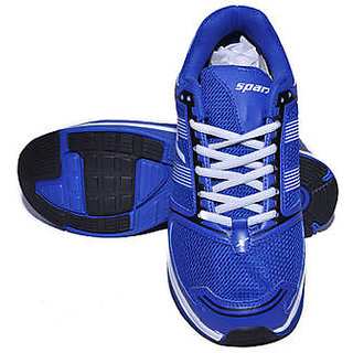 Sparx Classic Blue  White Canvas Shoes For Men