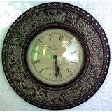 Home Decore Handicrafts Wall Clock With Metal Finish