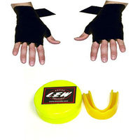 LEW COMBO OF GUM SHIELD & HAND WRAPS