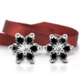 Ag Real Diamond Black Diamond Fashion Earring Agse0016