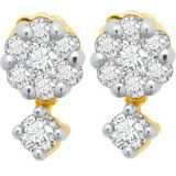 Avsar Real Gold And Diamond Pressure Set Earrings Ave020