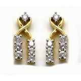 Avsar Real Gold And Diamond Fancy Dangle Earring Ave044
