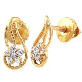 Avsar Real Gold And Diamond Traditional Earring Ave051