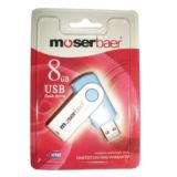Moserbaer Swivel 8 GB Pen Drive (Blue)