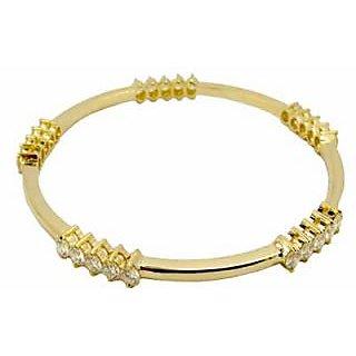Avsar Real Gold And Diamond Fandcy Bangle Avb041