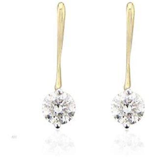 Unique Solitaire Diamond Studio 1/10 Carat Two Stone Fancy Earrings # Uqe006