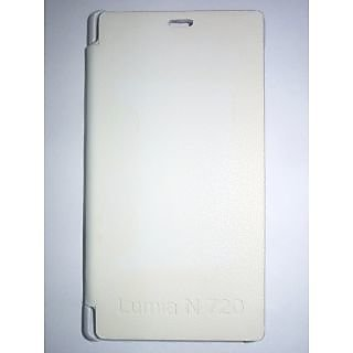 Nokia Lumia 720 Flip Cover (White) available at ShopClues for Rs.149